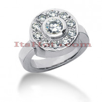 14K Gold Round Diamond Ladies Ring 1.10ct