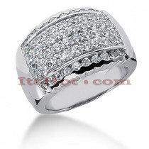 14K Gold Round Diamond Ladies Ring 1.16ct