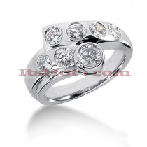 14K Gold Round Diamond Ladies Ring 1.32ct
