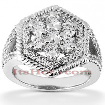 14K Gold Round Diamond Ladies Ring 1.65ct