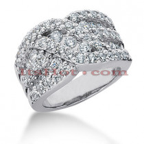 14K Gold Round Diamond Ladies Ring 1.87ct