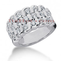 14K Gold Round Diamond Ladies Ring 1.90ct