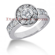 14K Gold Round Diamond Ladies Ring 1.95ct
