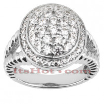 14K Gold Round Diamond Ladies Ring 1ct
