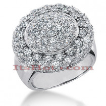 14K Gold Round Diamond Ladies Ring 2.52ct
