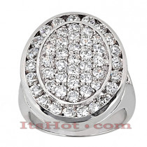 14K Gold Round Diamond Ladies Ring 3.08ct