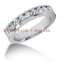 14K Gold Round Diamond Men's Wedding Ring 0.45ct