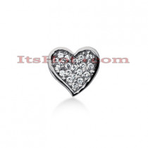 14k Gold Round Diamond Pave Heart Pendant 0.53ct