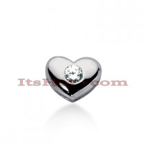 14k Gold Round Diamond Puffed Heart Pendant 0.35ct