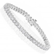 14K Gold Round Diamond Tennis Bracelet  4.70ct