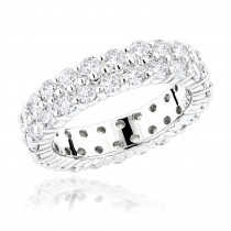 14K Gold Round Diamonds Eternity Band 2.60ct