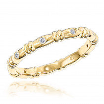 14K Gold Round Diamonds Eternity Ring 0.14ct