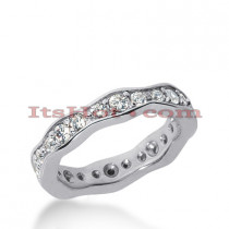 14K Gold Round Diamonds Eternity Ring 0.88ct
