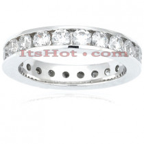 14K Gold Round Diamonds Eternity Ring 2.20ct