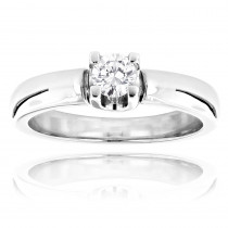 14K Gold Round Diamond Solitaire Engagement Ring For Cheap 0.2ct