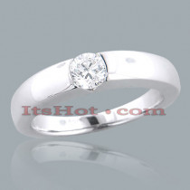 14K Gold Solitaire Engagement Ring 0.35ct