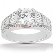 14K Gold Unique Diamond Engagement Ring 2.66ct