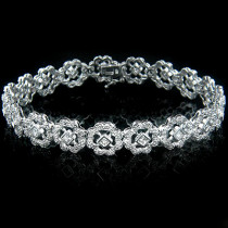 14k Gold Womens Diamond Bracelet 2.49ct
