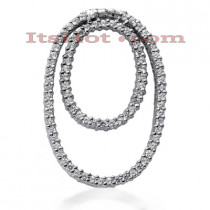 14K Gold Women's Diamond Pendant 1.32ct