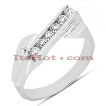 Thin 14K Gold Women's Diamond Ring 0.21ct