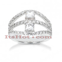14K Gold Women's Diamond Ring 1.90ct