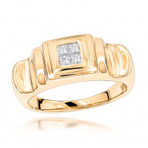 14K Gold Womens Diamond Ring Princess Diamonds 0.25ct