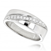 14K Gold Women's Diamond Wedding Band 0.12ct