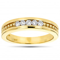 14K Gold Women's Diamond Wedding Band 0.25ct