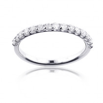 Ultra Thin 14K Gold Womens Diamond Wedding Band 0.4 ct