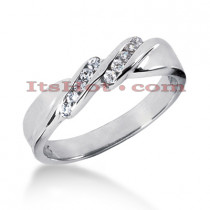 Thin 14K Gold Women's Diamond Wedding Ring 0.12ct