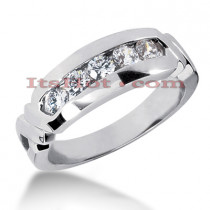 14K Gold Women's Diamond Wedding Ring 0.75ct