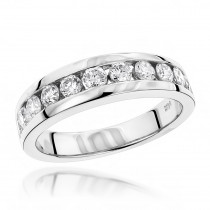 14K Gold Women's Diamond Wedding Ring 1.10ct