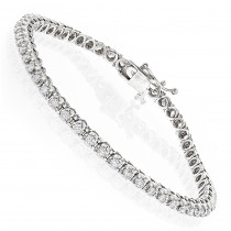 14K Gold Womens Round Diamond Tennis Bracelet 1.80ct