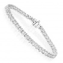 14K Infinity Diamond Tennis Bracelet 2.53ct