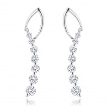 Journey Diamond Earrings For Women in 14k Gold 1.1ct