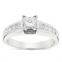 Princess Cut Diamond Engagement Ring 0.66ct 14K Gold