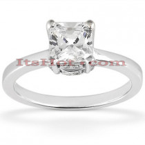 14K Princess Cut Diamond Engagement Ring 0.84ct