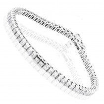 14K Gold Princess Cut Diamond Tennis Bracelet for Women 4.83ct