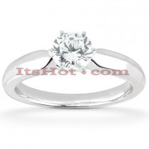 14K Round Diamond Engagement Ring 0.50ct
