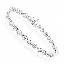 14K Round Diamond Knots Tennis Bracelet 1.98ct
