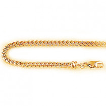 14K Solid Yellow Gold Franco Chain 3mm 24-40in