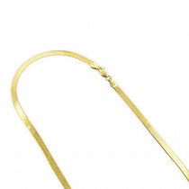 Solid 14k Gold Herringbone Chain For Women Imperial 3mm