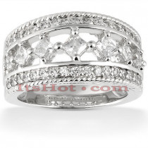 14K Womens Diamond Wedding Ring 1.26ct