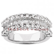 14K Womens Diamond Wedding Ring 2.50ct