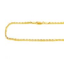 14K Yellow Gold Cable Chain for Men 20-40in 2mm
