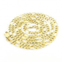 Mens 14K Yellow Gold Figaro Chain 2.5mm 22-24in