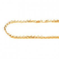 14K Yellow Gold Rolo Chain Oval Design 4.5mm 22in - 34in