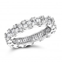Thin 18K Gold Designer Diamond Eternity Ring 1.29ct