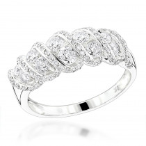 18K Gold Designer Womens Diamond Rings Collection Item 1.5ct