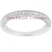 Thin 18K Gold Diamond Engagement Band 0.43ct